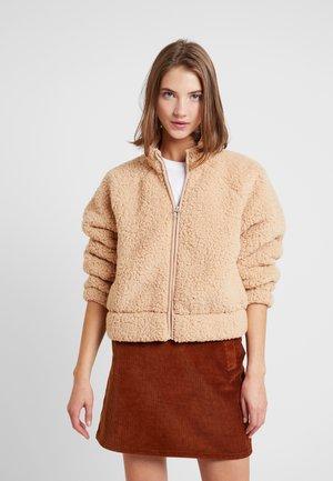 FULL ZIP - Zip-up hoodie - tan