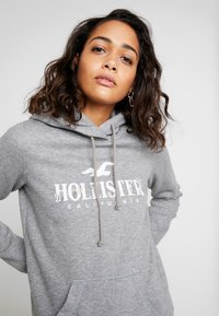 Hollister Co. - FLORAL LOGO POPOVER - Hoodie - grey - 5