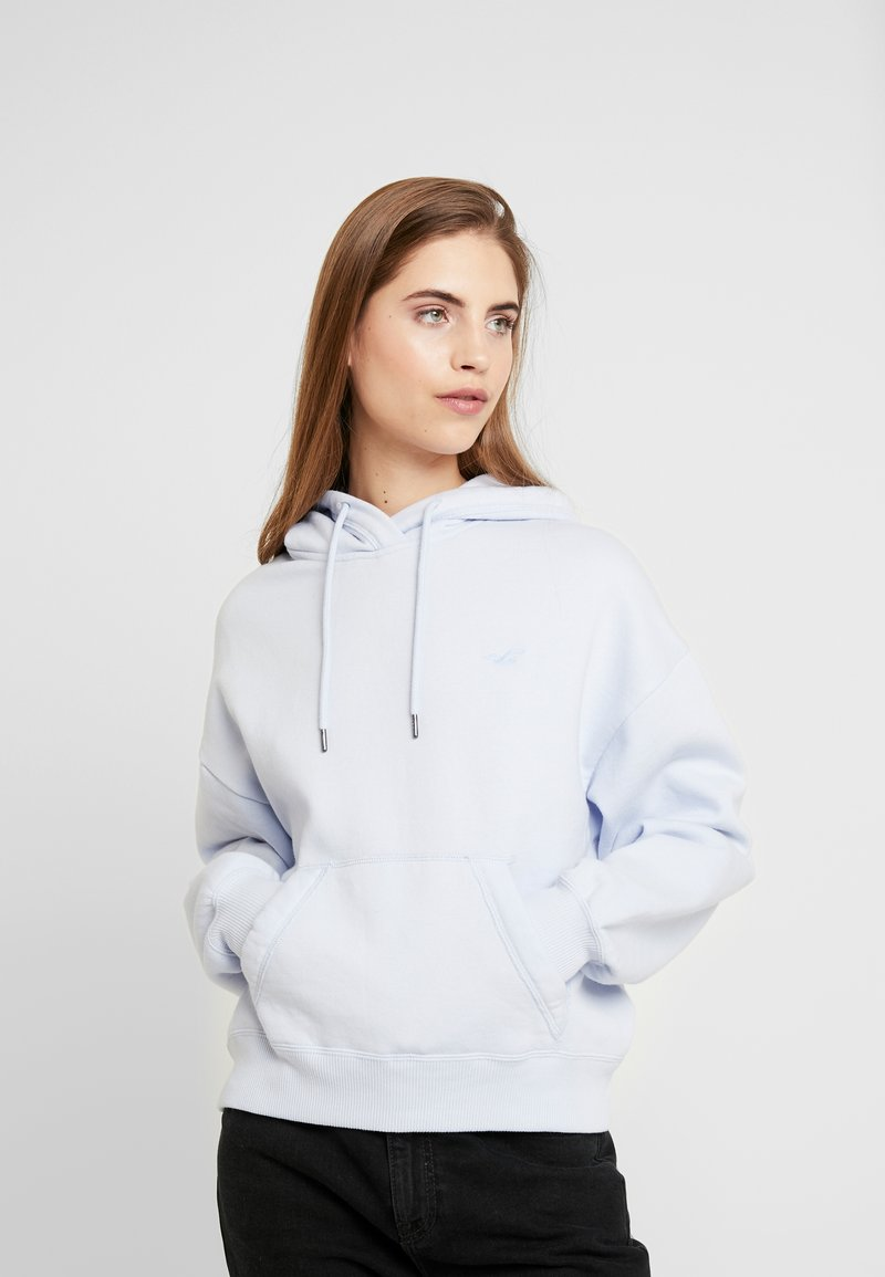 Hollister Co. - CHASE ICON POPOVER - Sweat à capuche - xenon blue