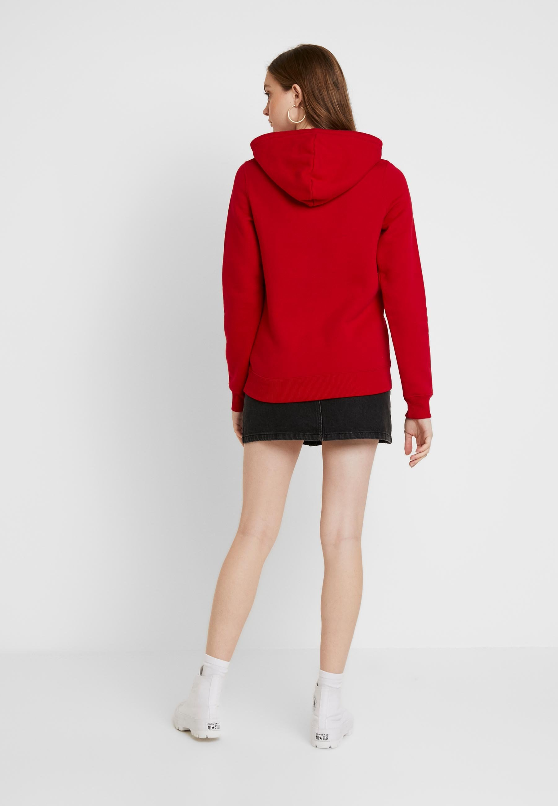 Hollister Co. TECH LOGO  STATEMENT - Hoodie - red