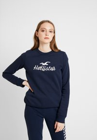 Hollister Co. - OVER LOGO CREW - Sweatshirt - navy - 0