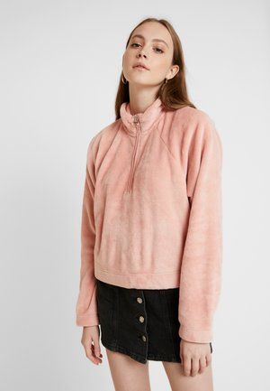 PILE MOCK - Sweater - peach