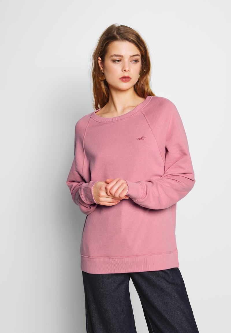 Hollister Co. - ICON CREW - Mikina - dusty rose