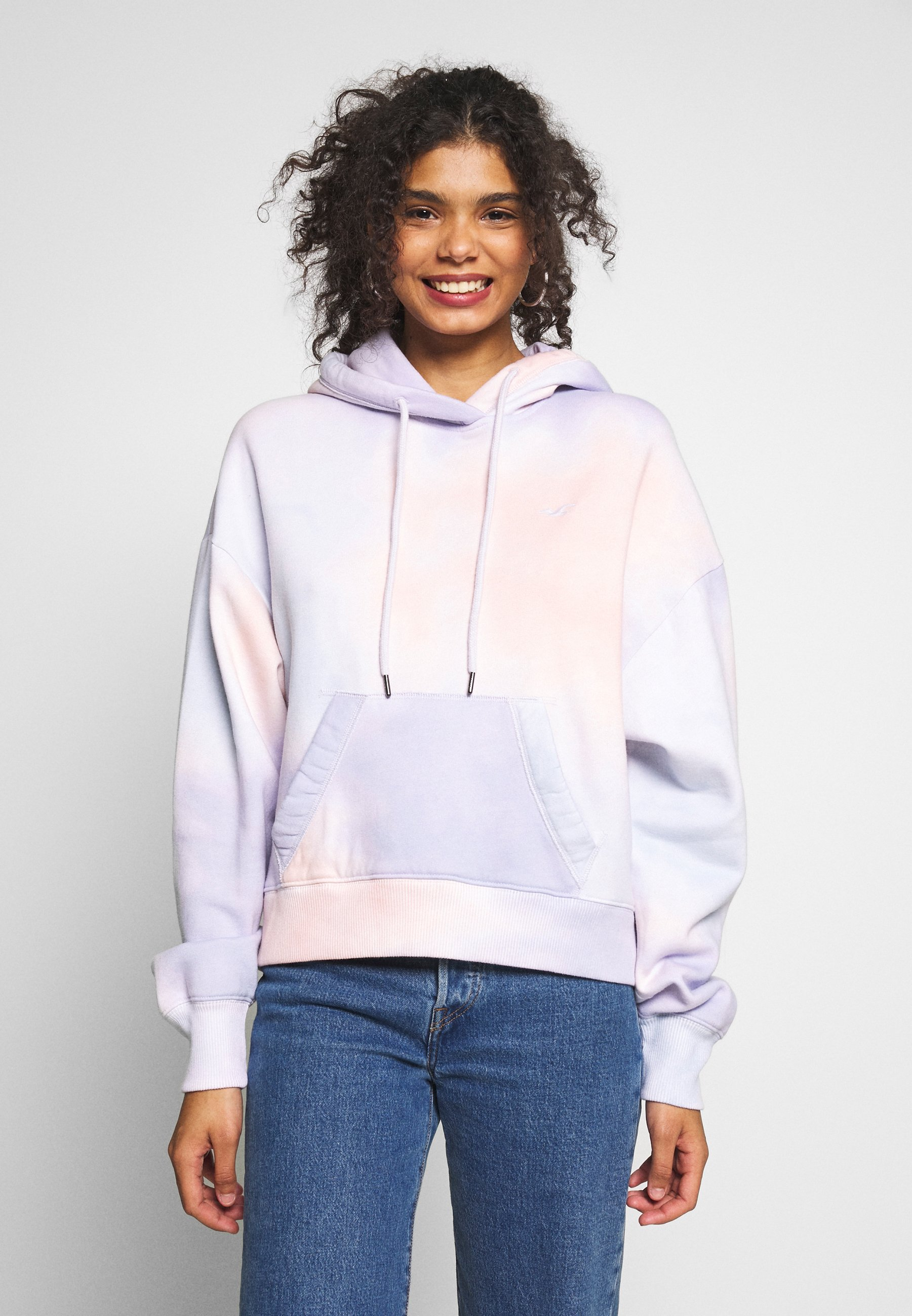 Hollister Co. CHAIN ICON 1ST LAYER ADDITION  - Hoodie - white/graphic