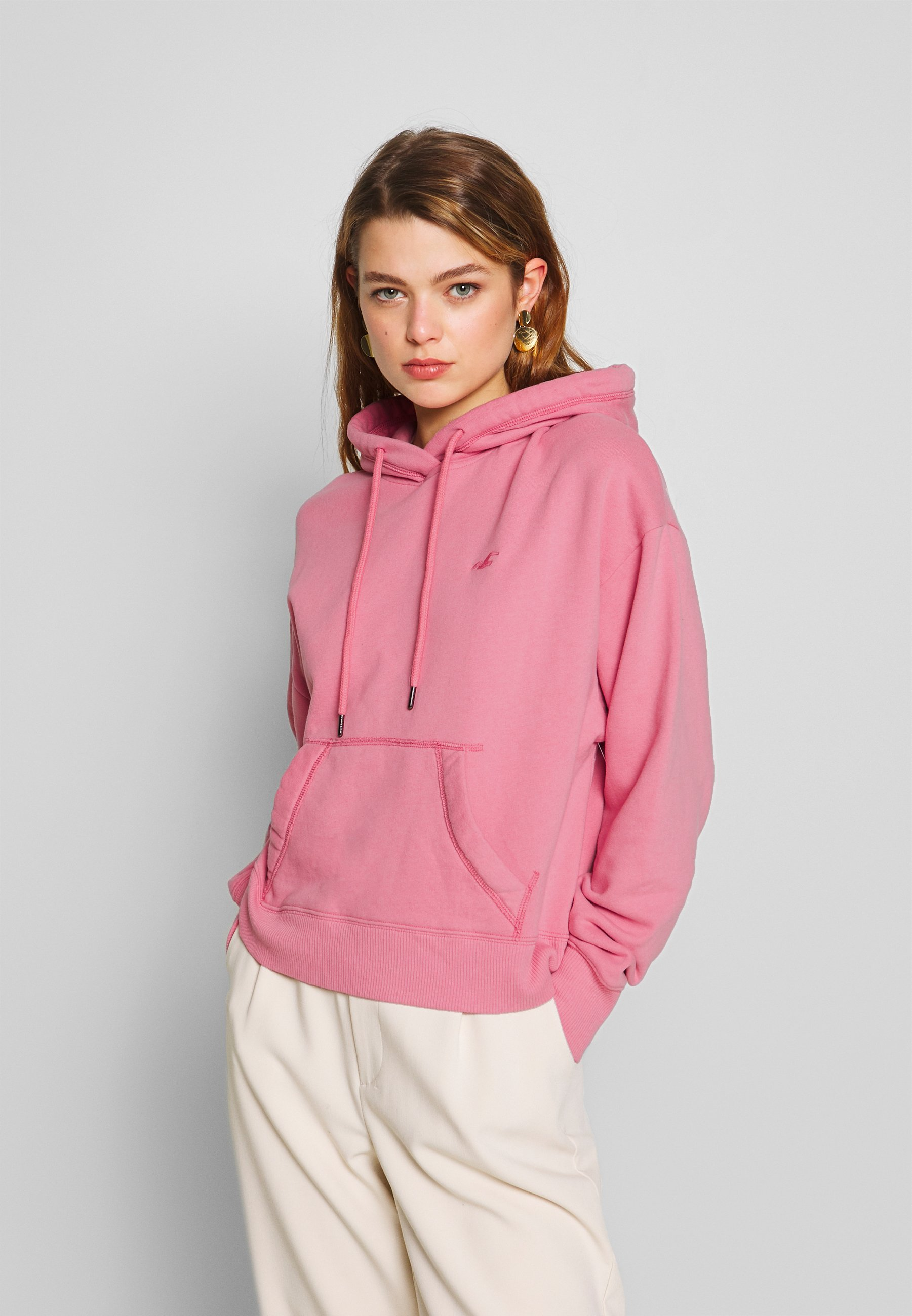 Hollister Co. CHAIN ICON - Bluza z kapturem - dusty rose