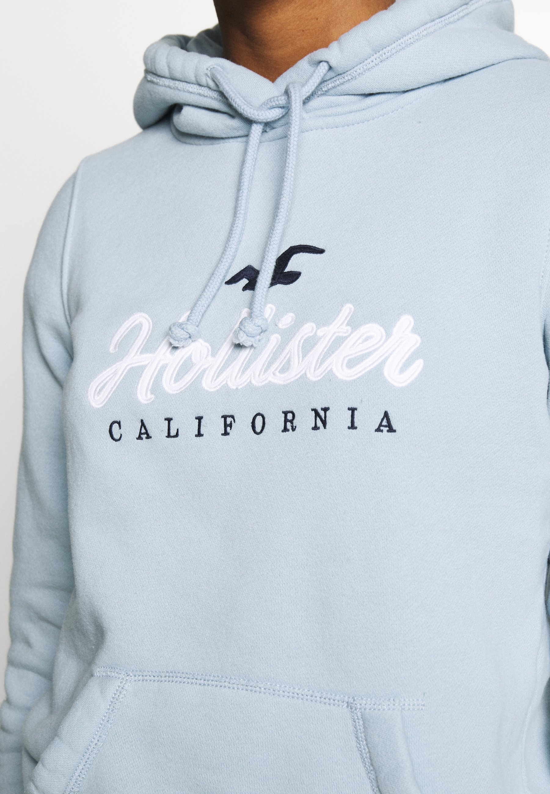 Hollister Co. Core Large Scale Logo - Hoodie Light Blue