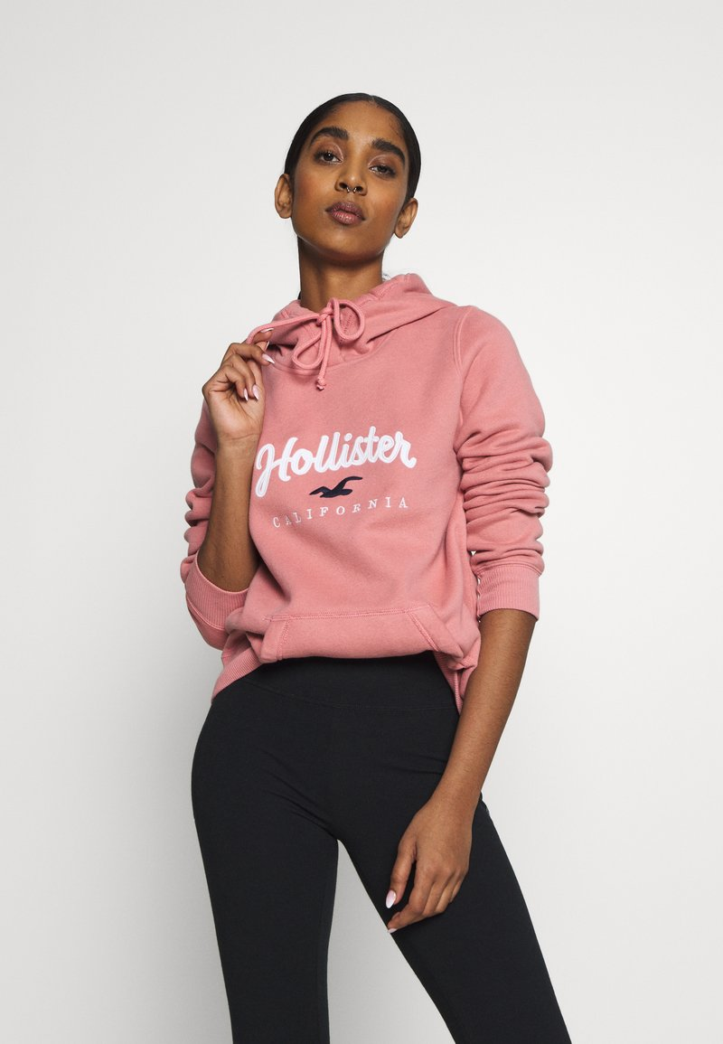 Hollister Co. - Jersey con capucha - pink