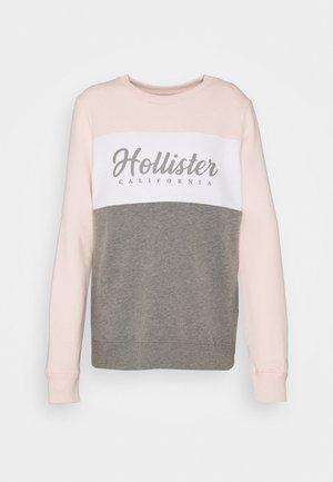 FASHION CREW - Sweatshirt - pink/white/grey