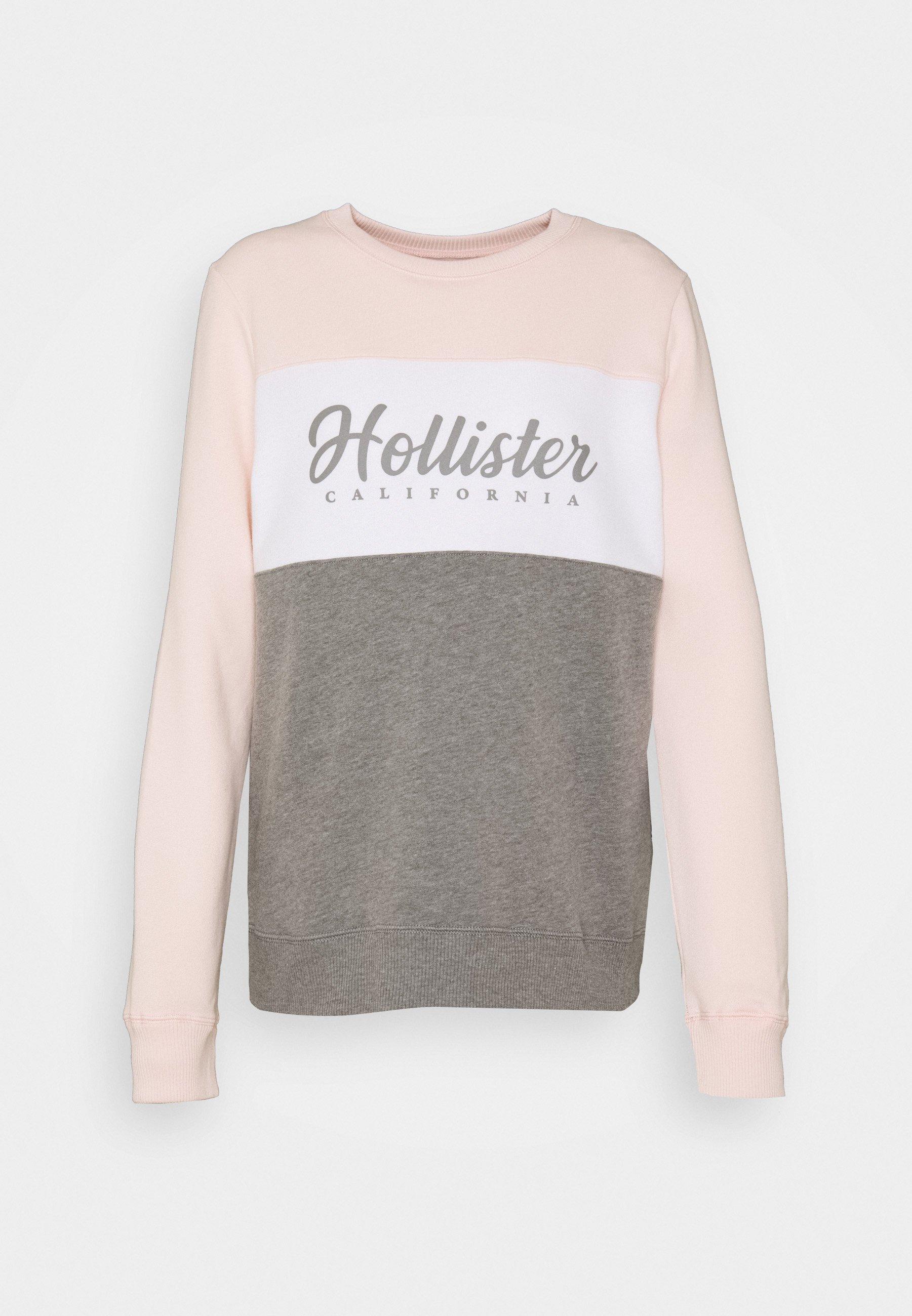 FASHION CREW Sweatshirt pinkwhitegrey