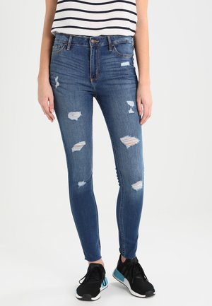 STRECH HIGH RISE SUPER SKINNY  - Skinny džíny - medium wash