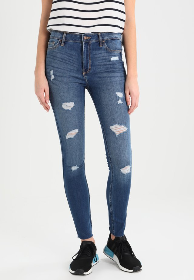 STRECH HIGH RISE SUPER SKINNY  - Vaqueros pitillo - medium wash