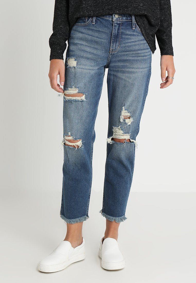 Hollister Co. - Jeans Straight Leg - light destroy