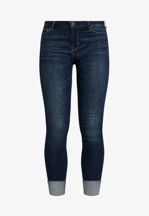 MEDIUM RISE DARK CLEAN - Jeans Skinny Fit - dark crop