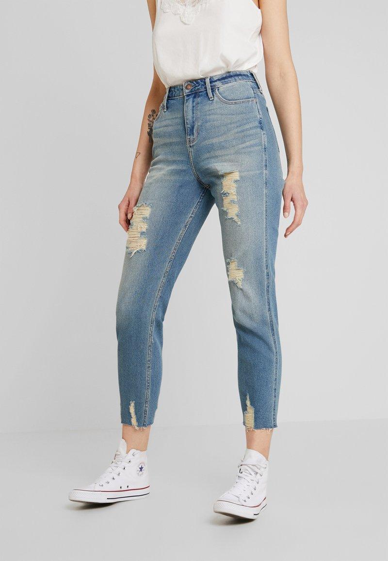 Hollister Co. - MOM - Jeans Slim Fit - destroyed denim