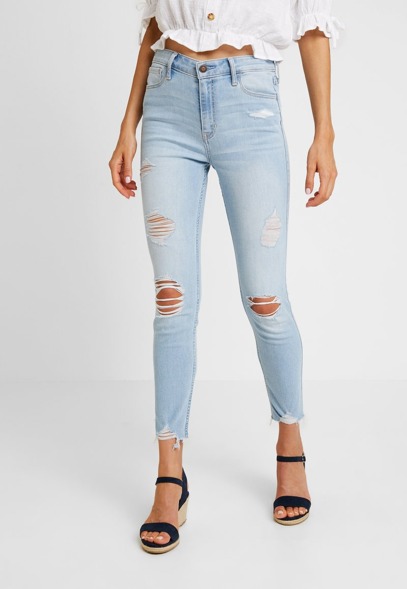 Hollister Co. - HIGH RISE SUPER CROP - Jeans Skinny Fit - light wash