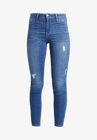 Hollister Co. - HIGH RISE - Skinny džíny - blue denim - 3