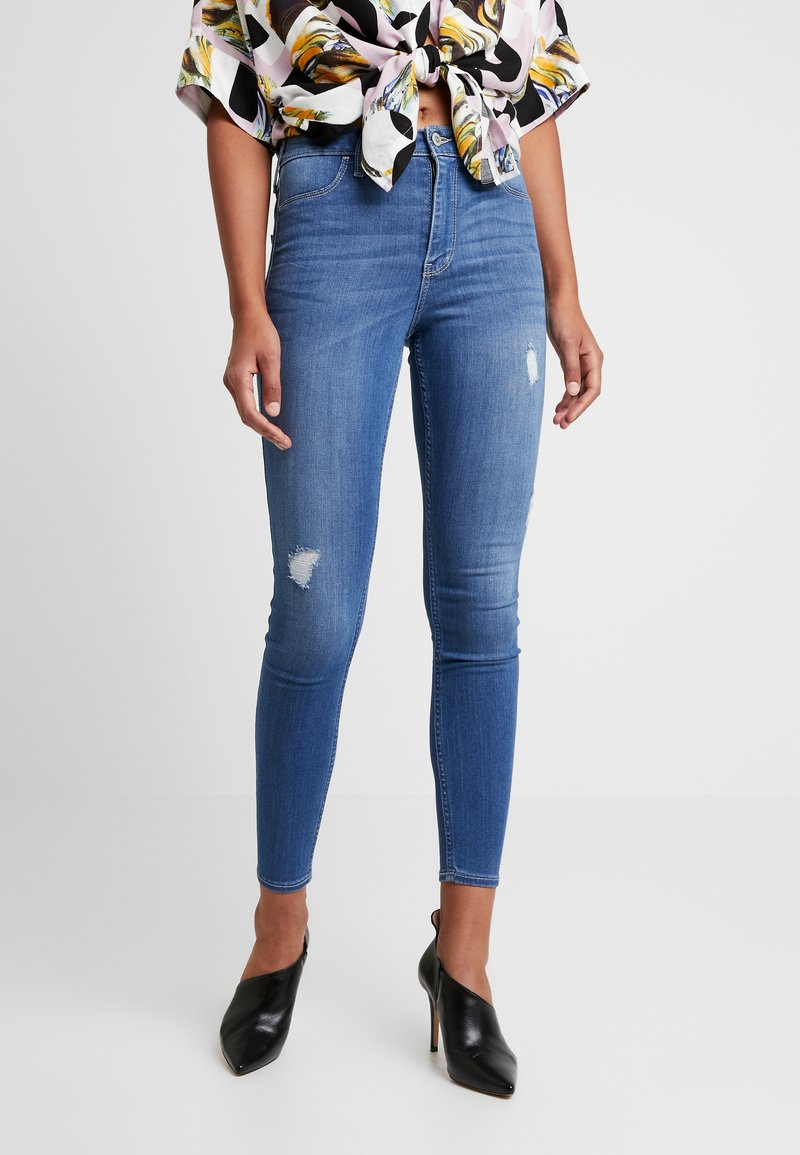 Hollister Co. - HIGH RISE - Skinny džíny - blue denim