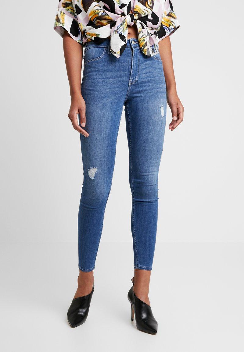 Hollister Co. - HIGH RISE - Jeans Skinny Fit - blue denim