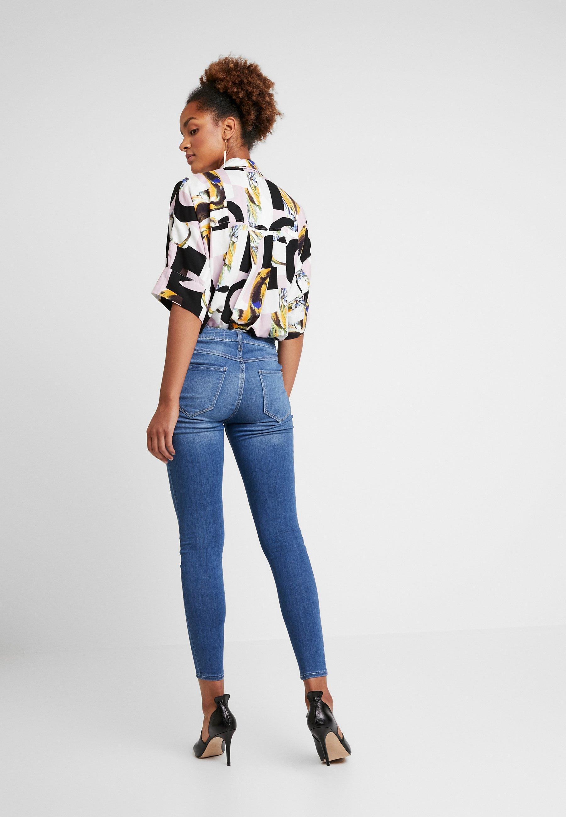 Hollister Denim Blue CoHigh RiseJeans Skinny NwyvnOm80P