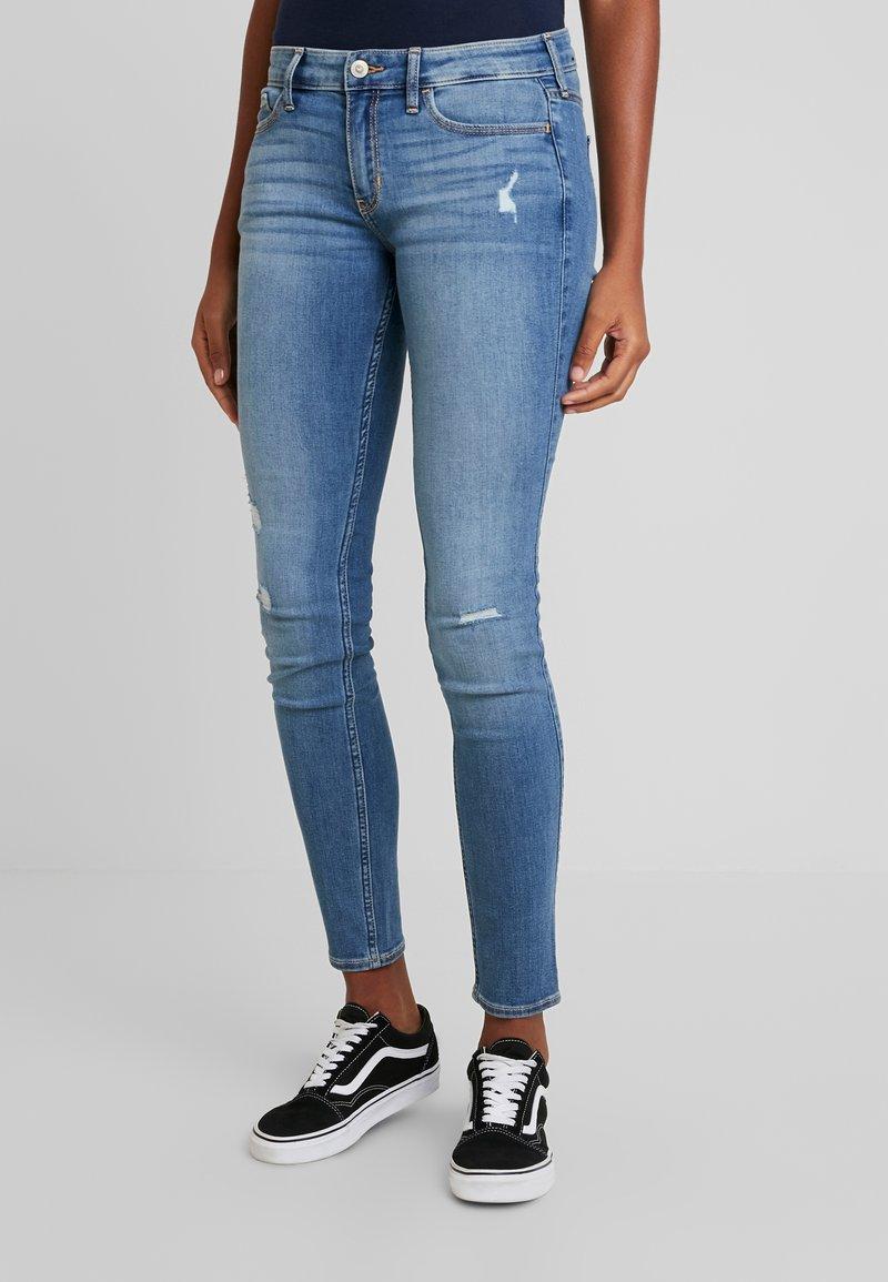 Hollister Co. - Jeans Skinny Fit - blue denim/destroyed