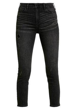 HIGH RISE SUPER CROP - Jeans Skinny Fit - washed black