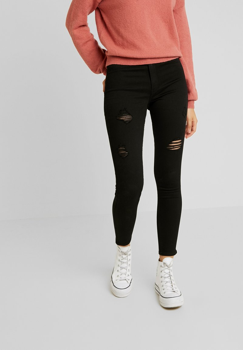Hollister Co. - DEST - Skinny džíny - black