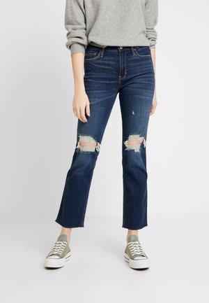 DESTROY - Jeans straight leg - dark-blue denim
