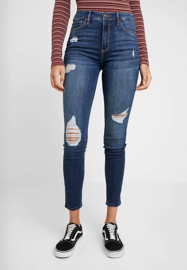 Jeans Skinny Fit - dark destroyed