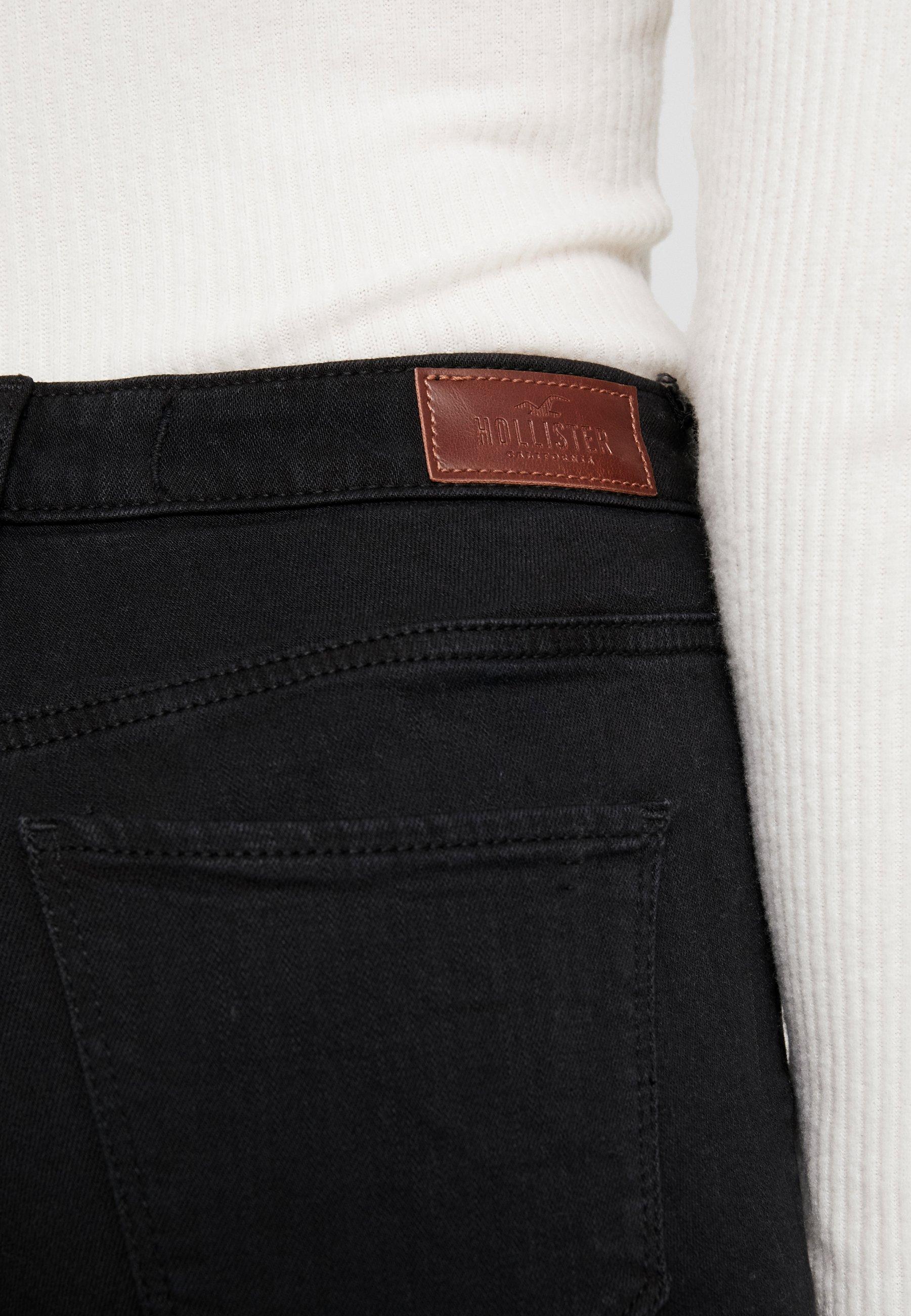 Hollister Co. Jeansy Straight Leg - black
