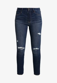 Hollister Co. - DESTROY - Skinny džíny - dark-blue denim - 4