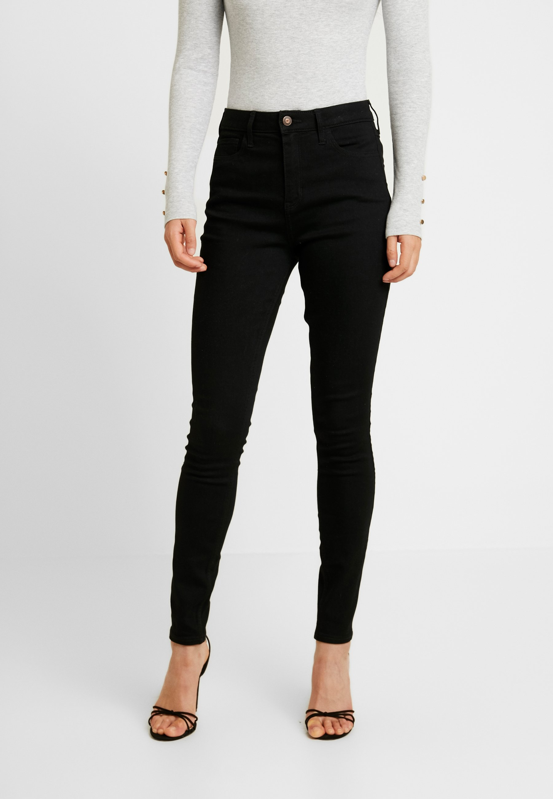 Hollister Co. CLEAN  - Jeansy Skinny Fit - black