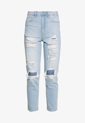 SODA UHR MOM - Jeans slim fit - light max destroy