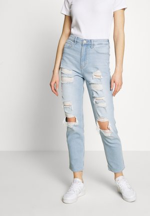 SODA UHR MOM - Slim fit jeans - light max destroy