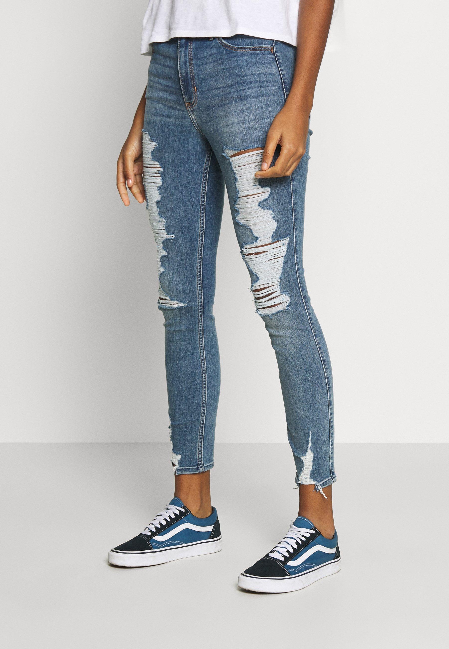Hollister Co. Jeansy Skinny Fit - denim