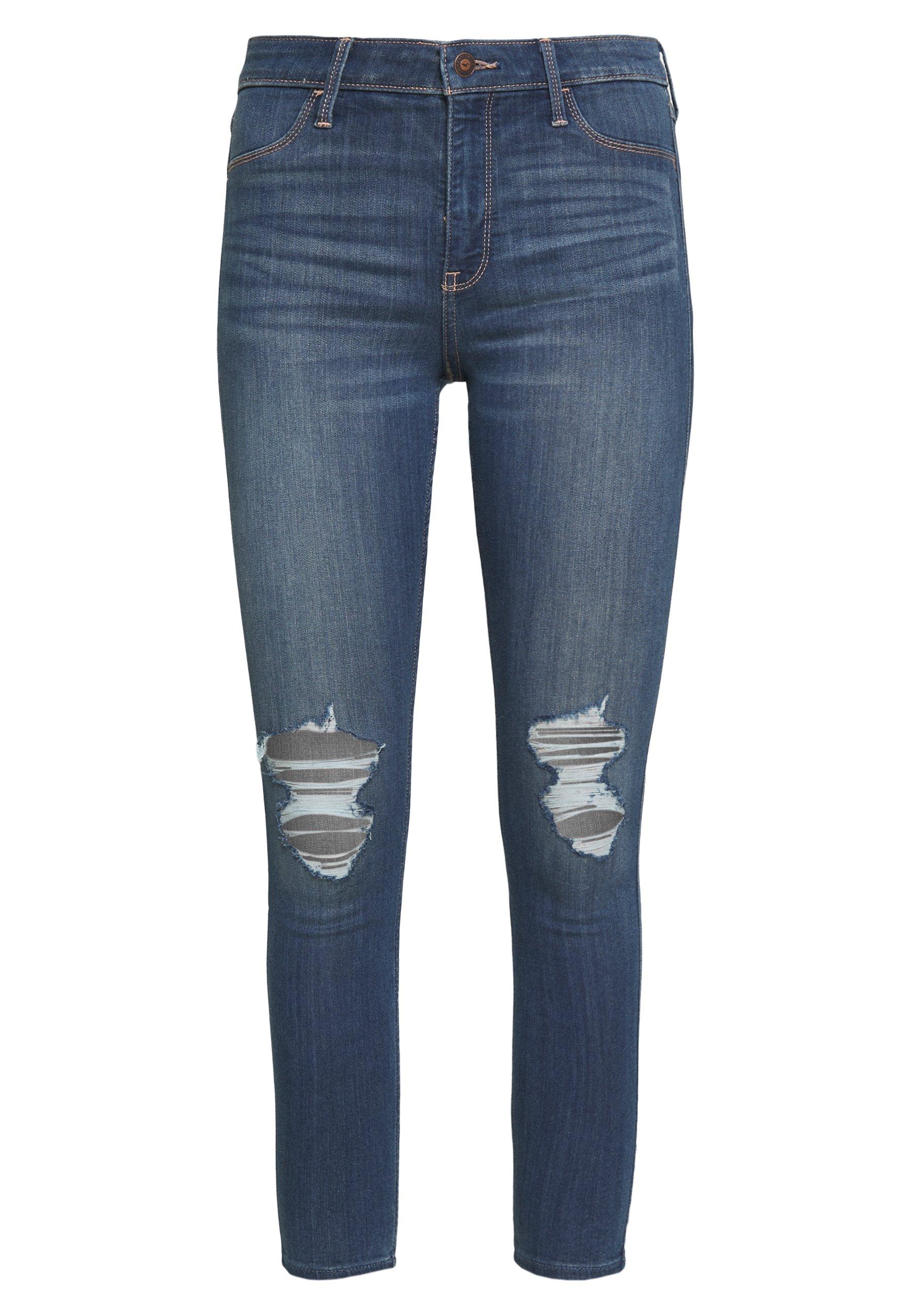 Hollister Co. Jeans Skinny Fit - Dark Blue 0x2q5