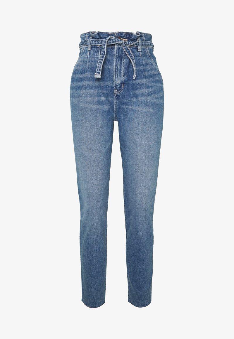 Hollister Co. - CHASE MOM  - Jeansy Slim Fit - light blue denim