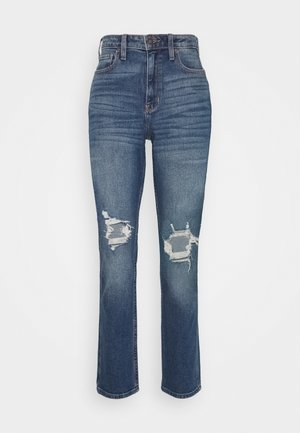 KNEEBO UHR MOM - Jeans relaxed fit - destroyed denim