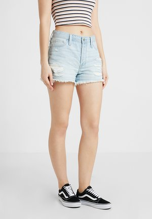 HIGH RISE MOM  - Jeansshorts - light destroy