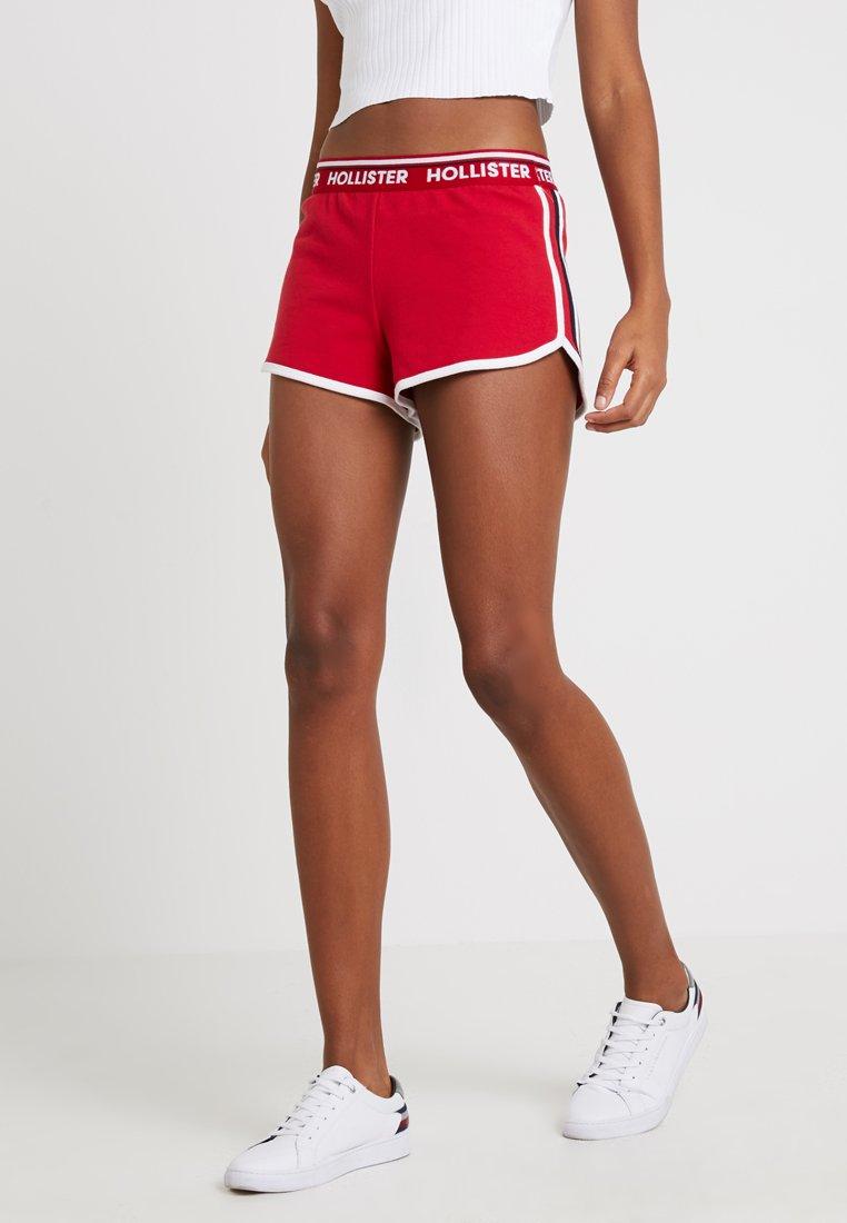 Hollister Co. - DOLPHIN HEM - Shorts - red