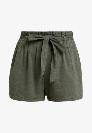 SOFT PAPERBAG WAIST - Shorts - olive