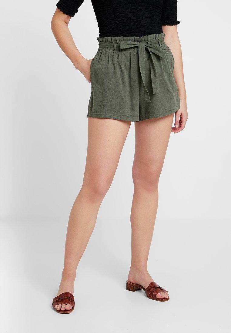 Hollister Co. - SOFT PAPERBAG WAIST - Shorts - olive