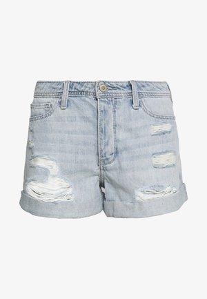 UHR MOM DESTROY ROLL - Jeansshorts - denim