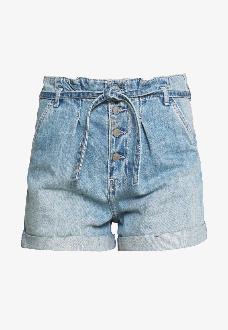 Hollister Co. MOM MED BELTED - Jeansshorts - medium