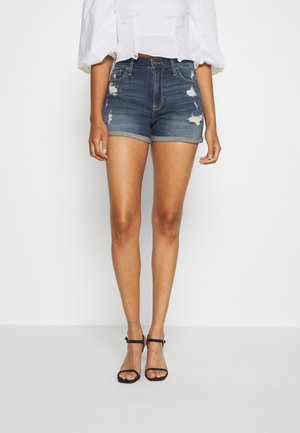 Denim shorts - dark
