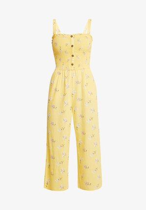 BUTTON FRONT - Overall / Jumpsuit - yellow