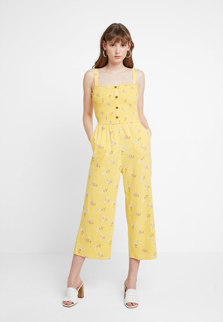 Hollister Co. - BUTTON FRONT - Jumpsuit - yellow