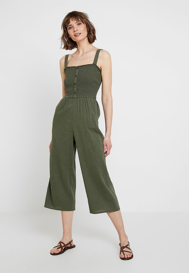 BUTTON FRONT - Overall / Jumpsuit - olive