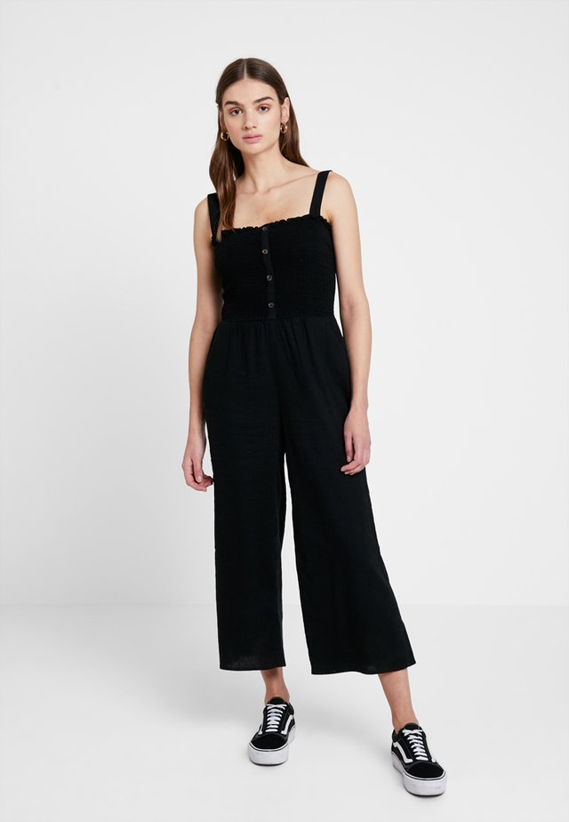 BUTTON FRONT - Jumpsuit - black