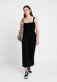 Hollister Co. - BUTTON FRONT - Overal - black - 1