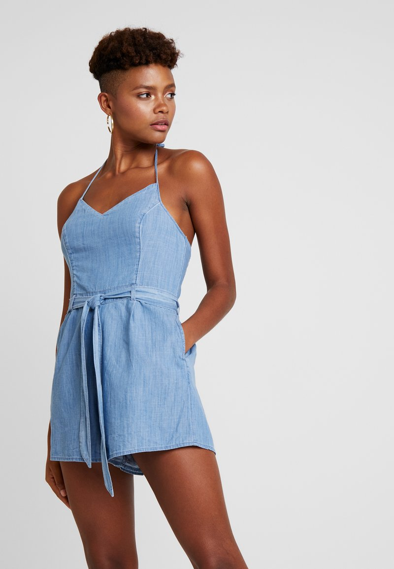 Hollister Co. - HALTER ROMPER - Overal - chambray